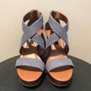 Jean Wedges: Never been worn